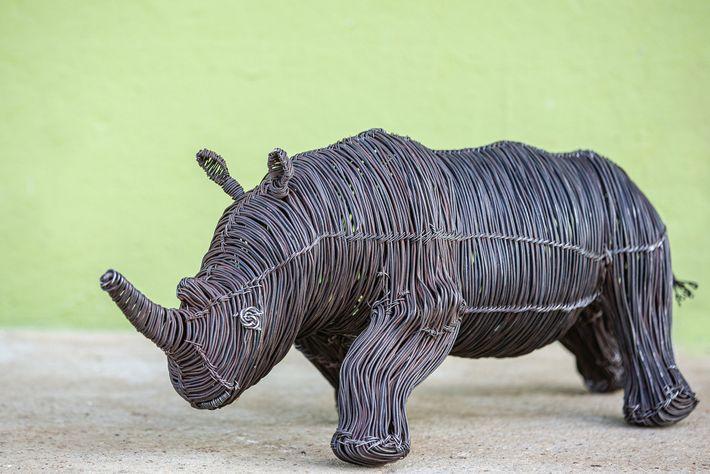 Escultura de un rinoceronte