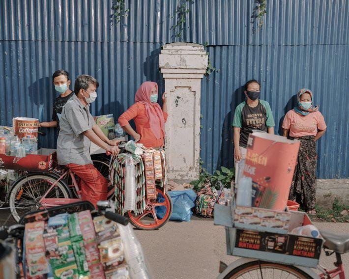 Los residentes de Kampung Starling, Yakarta Central