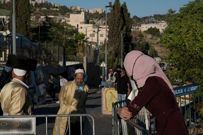 Barrera en el barrio de Sheikh Jarrah