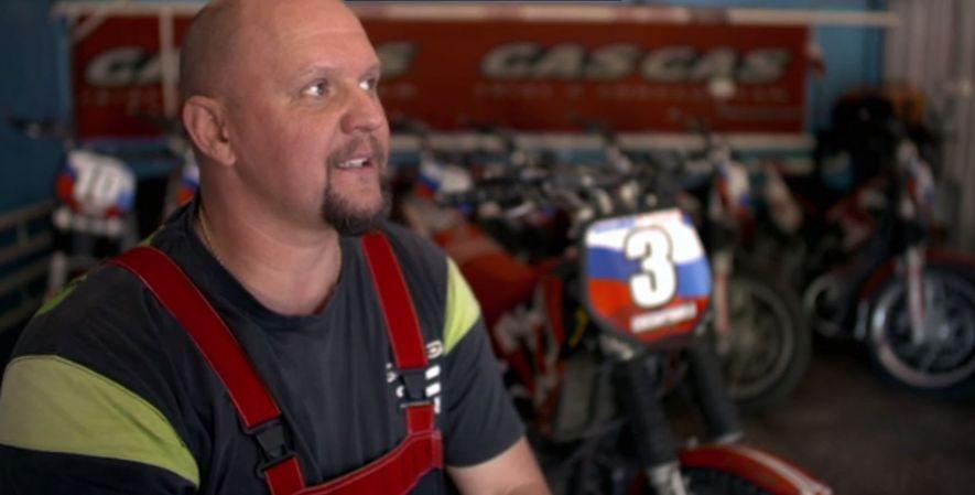 El mecánico de la selección nacional rusa de motoball, Alexander Gralevsky.