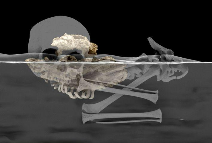 Reconstrucción virtual de los restos del niño