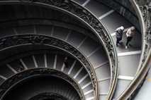 Fotografía de la escalera de Bramante