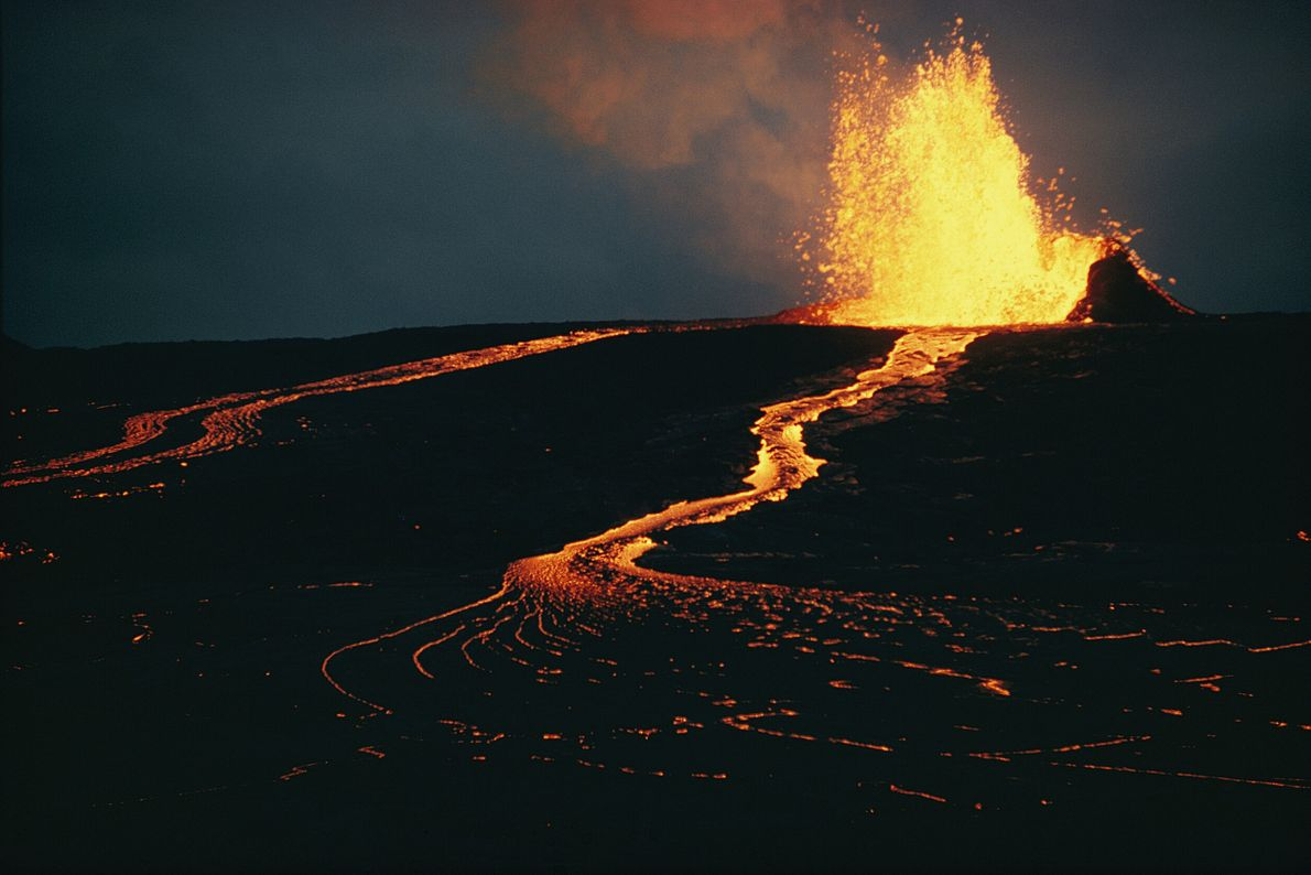 Volcanes activos Mauna ULU