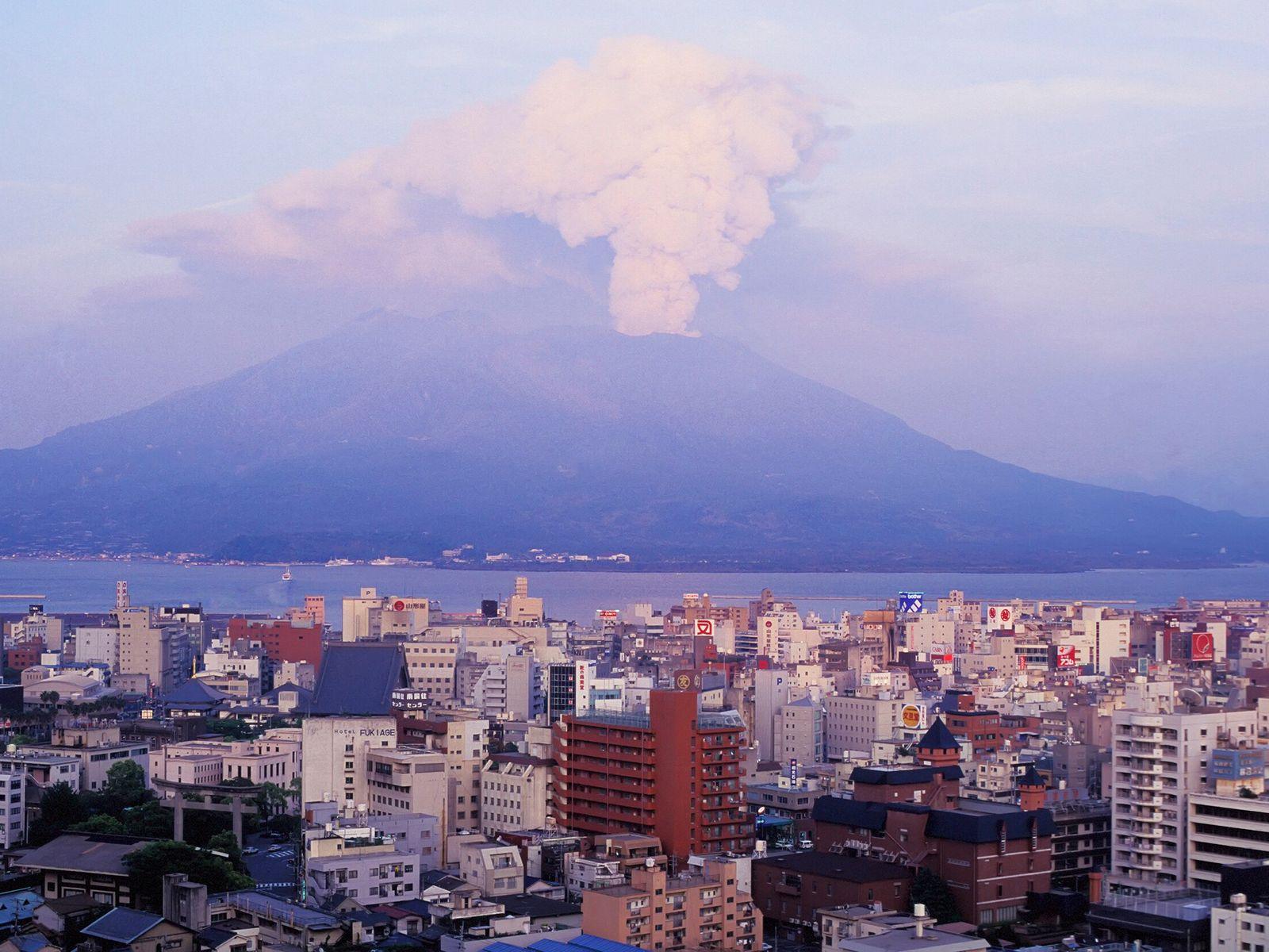 El Sakurajima es un volcán activo muy peculiar, ya que hasta 1914 era una isla. Sin ...