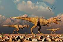 Ilustración de T. rex