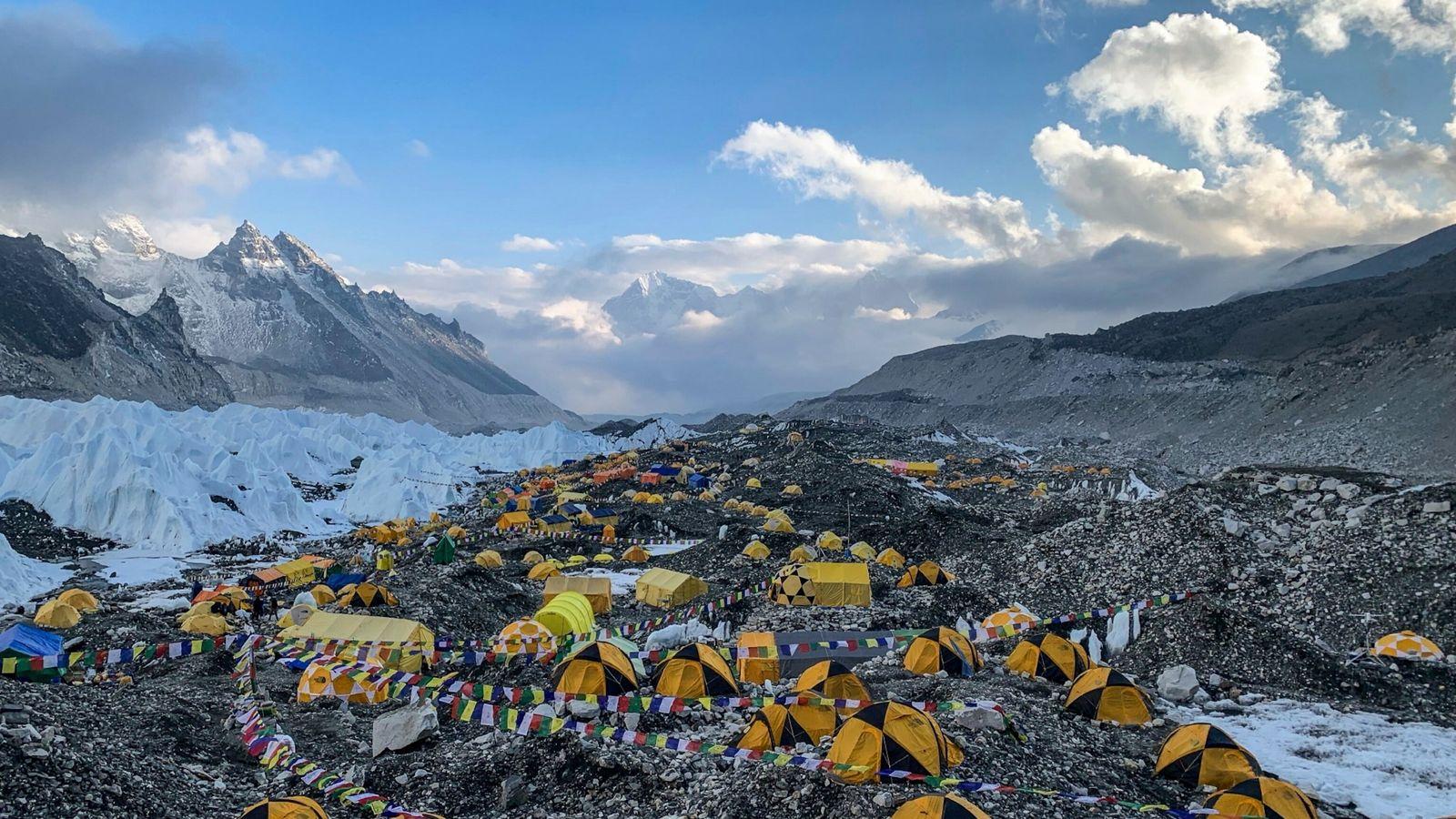 Fotografía del campamento base del Everest