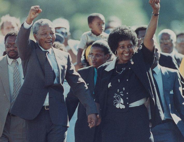 Nelson Mandela y su mujer, Winnie