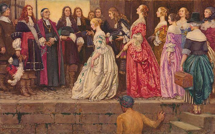 Jean Talon recibe a las filles du roi