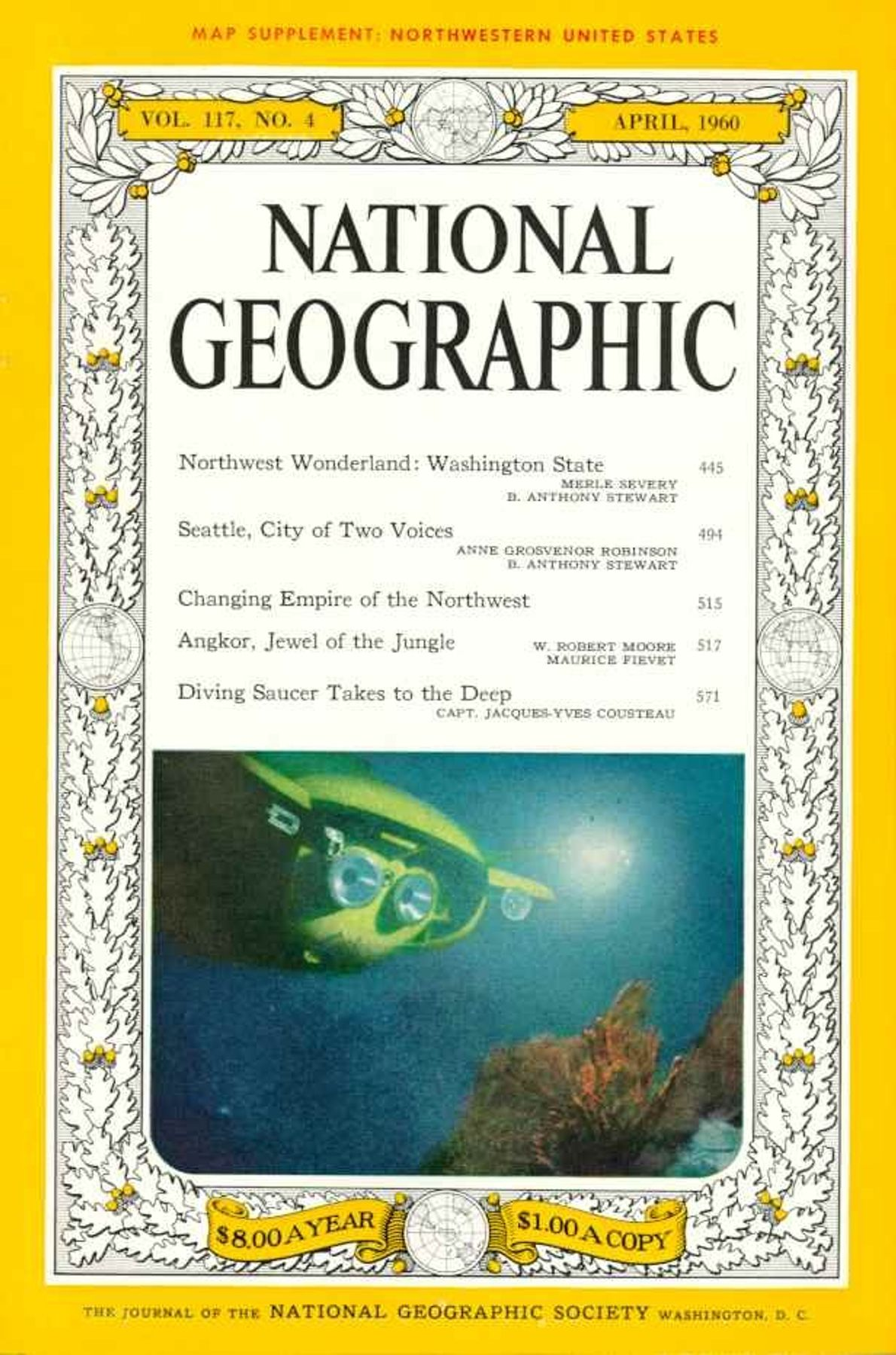 Abril 1960: Jacques Cousteau y National Geographic