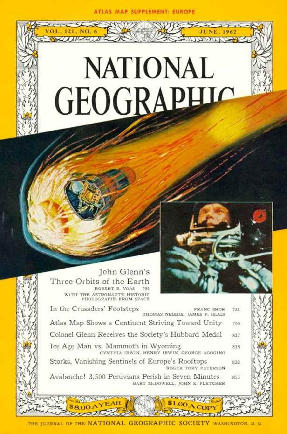 Junio 1962: John Glenn orbita alrededor de la Tierra