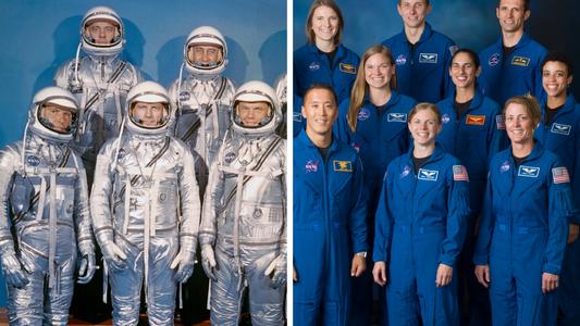 Así han cambiado los grupos de astronautas de la NASA con el paso del tiempo