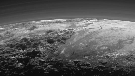 Hazes, montañas de Plutón