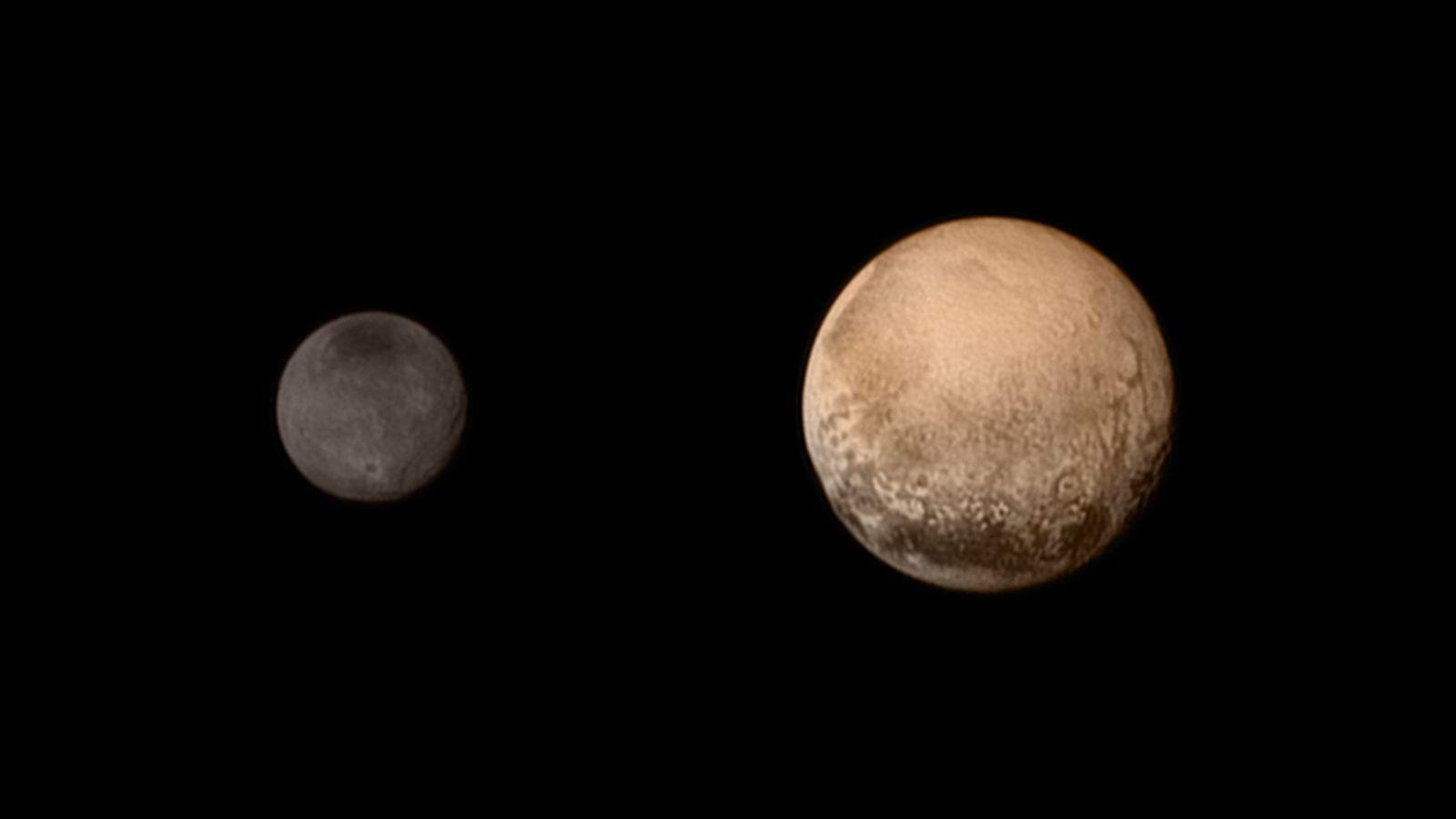 Plutón y su luna, Charon