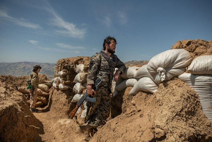 Luchando contra los talibanes