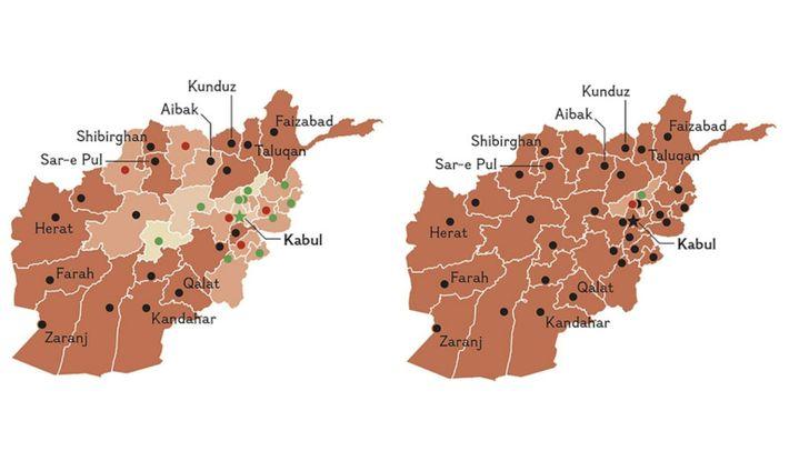 El avance relámpago de los talibanes en 2021