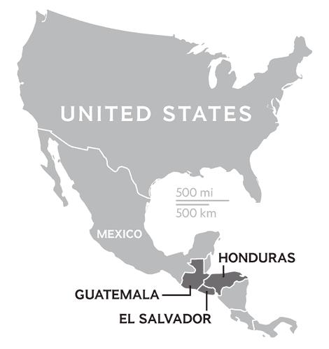 La mayoría de los inmigrantes en Estados Unidos proceden de El Salvador, Honduras y Guatemala.