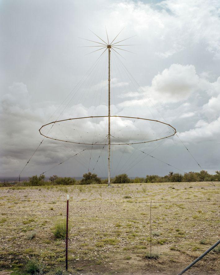 Una antena de comunicación