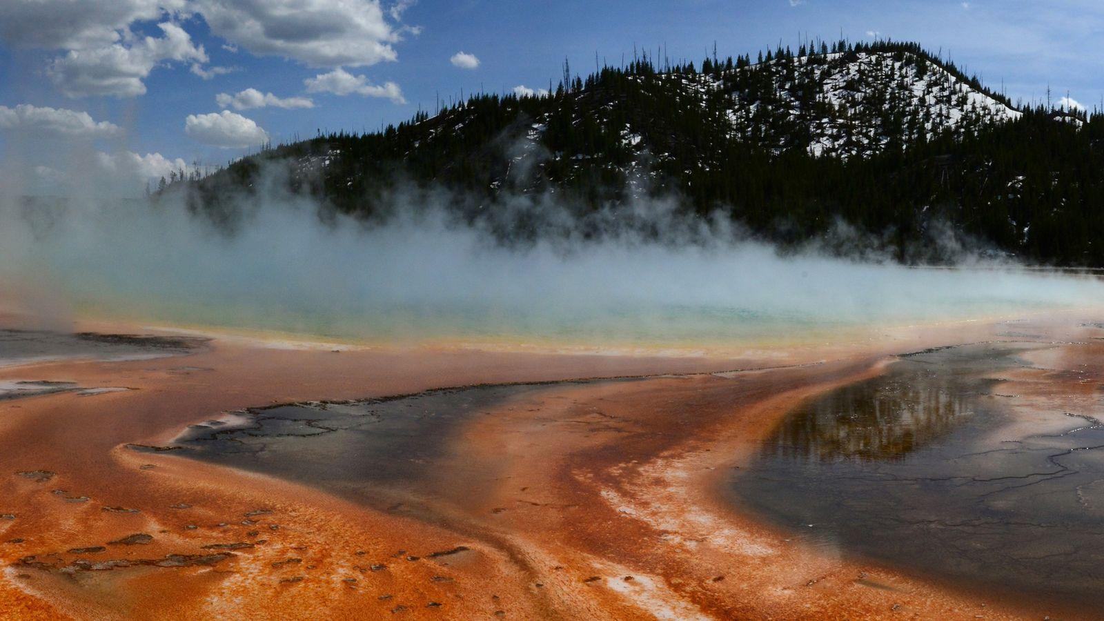 Esteras microbianas en Yellowstone