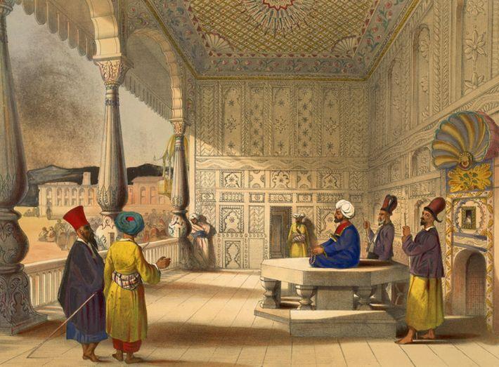 Interior del palacio de Shauh Shujah Ool Moolk