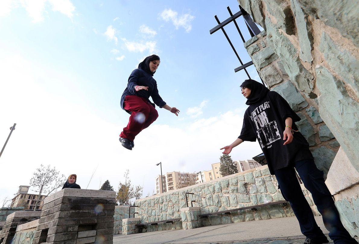 Parkour en Teherán