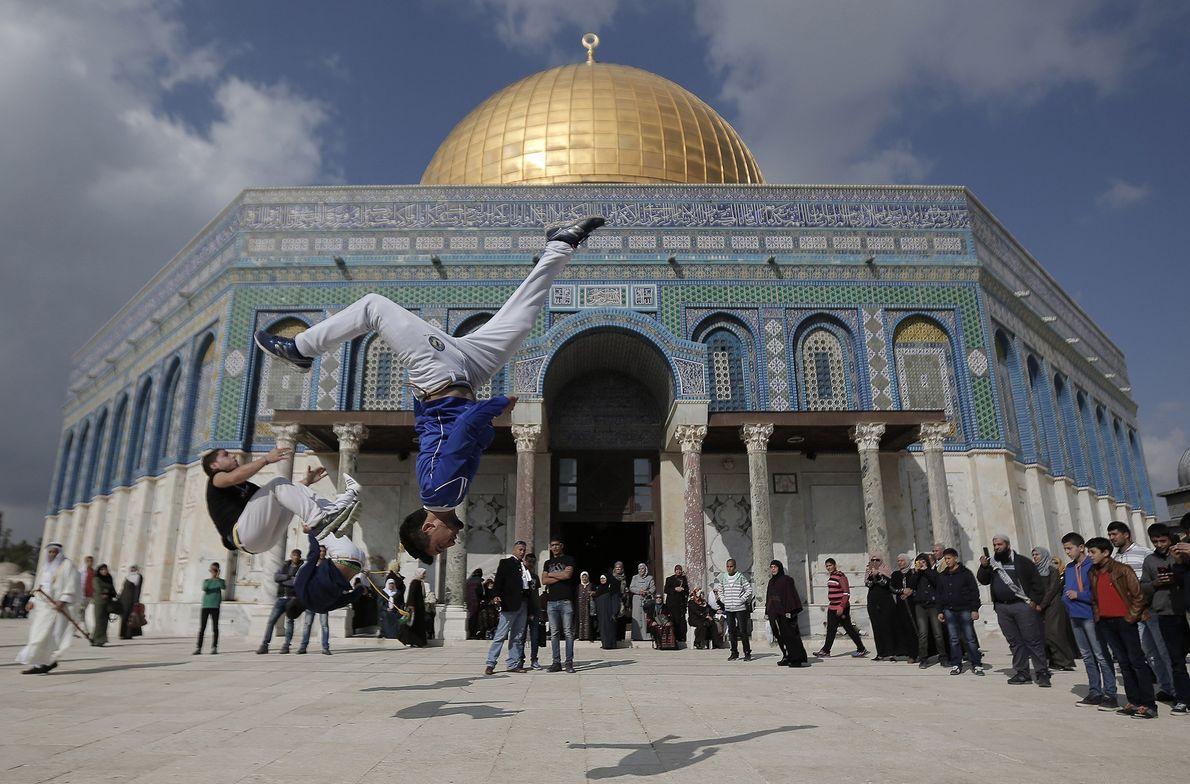 Parkour en Jerusalén