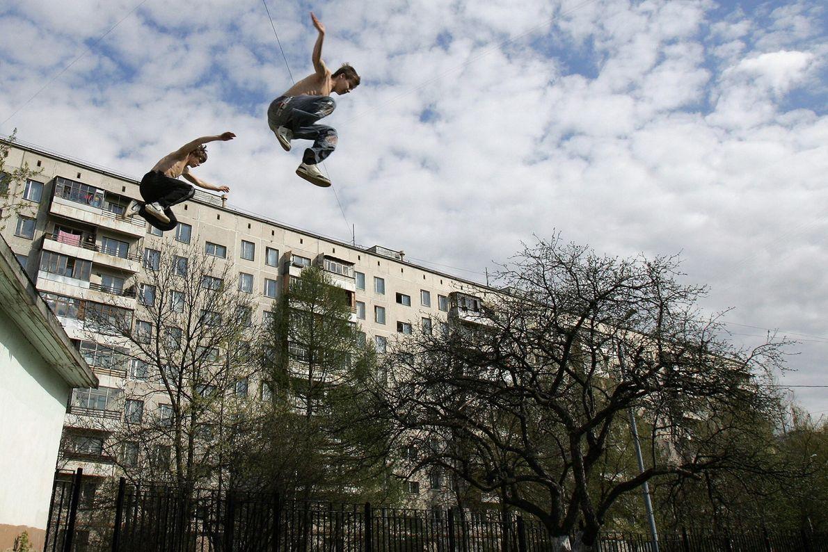Parkour en Moscú