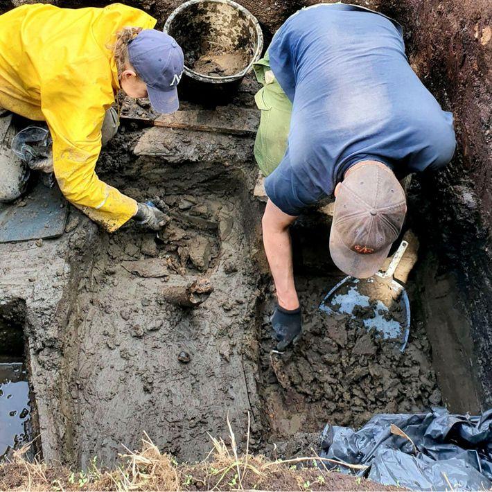 Excavación en el yacimiento de Järvensuo I