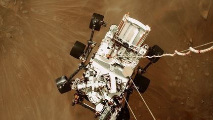 Este es el primer vídeo de la historia de un aterrizaje en Marte