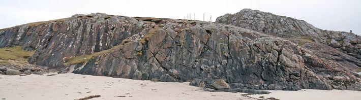 Bloque de roca en Escocia