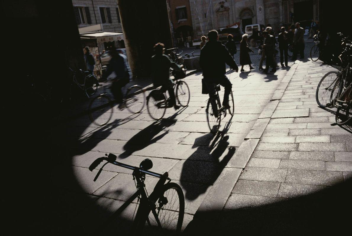 Ciclistas al sol