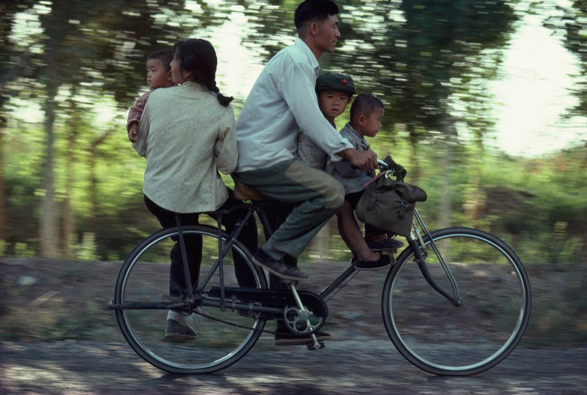 En bici en familia