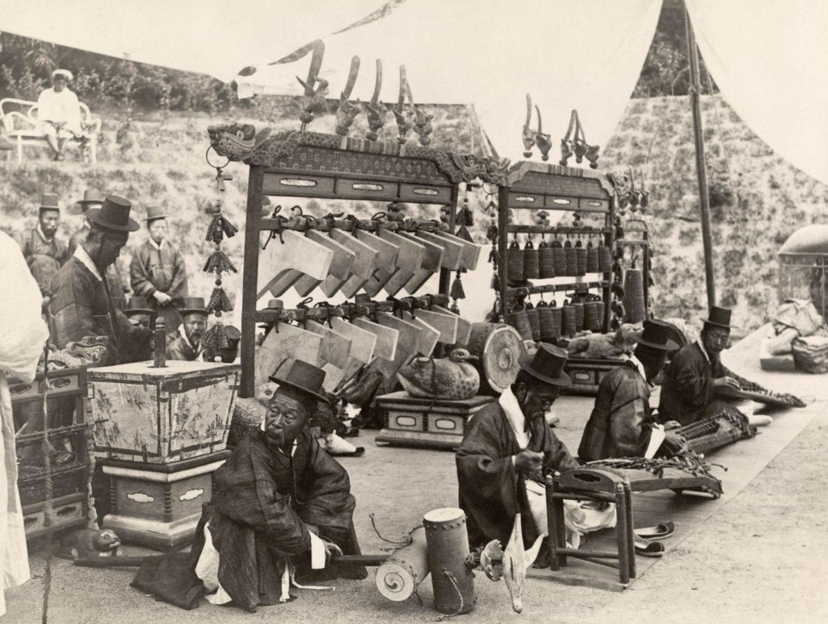 Vendedores de instrumentos de Seúl