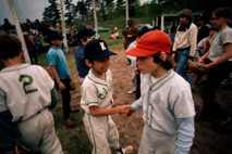 Partido de béisbol en Wisconsin