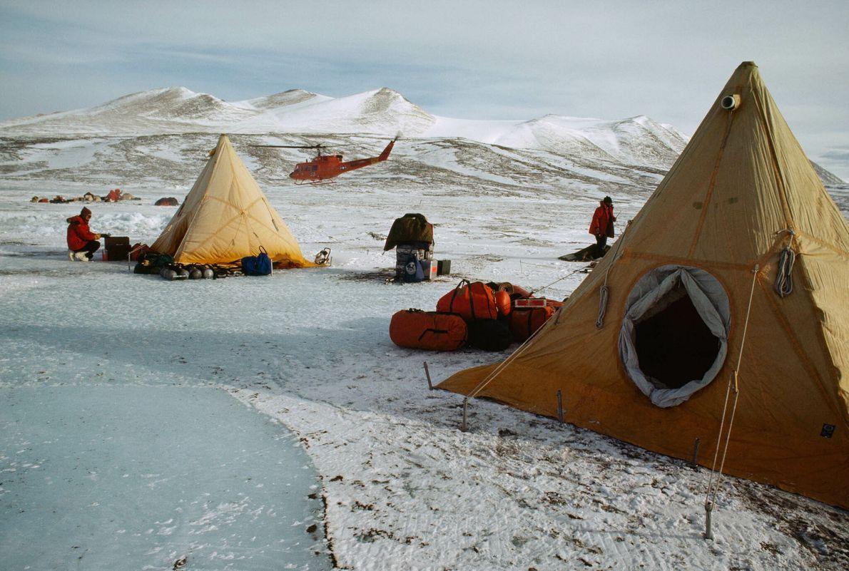 Tiendas sobre hielo