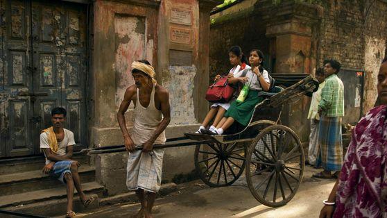 Rickshaw al colegio