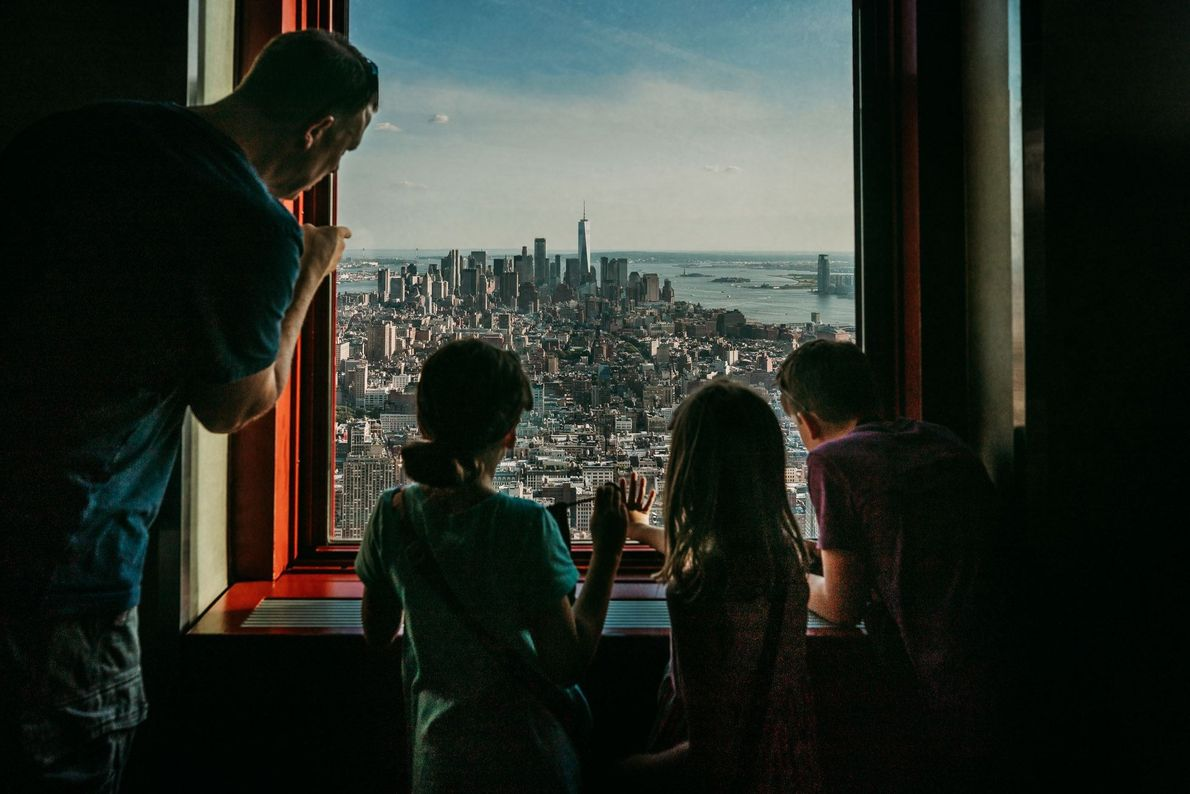 Picture of the skyline of Lower Manhattan from the Empire State Building