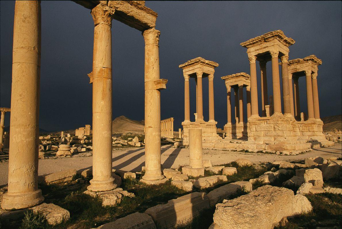 Imagen de los restos de la antigua ciudad de Palmira, en la actual Siria