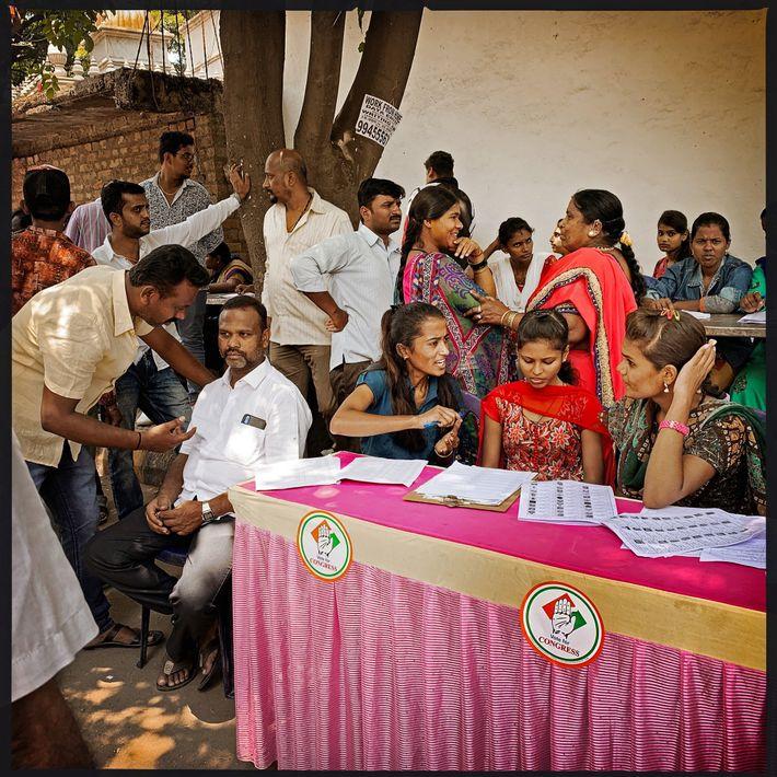 Votantes intrépidas, la India