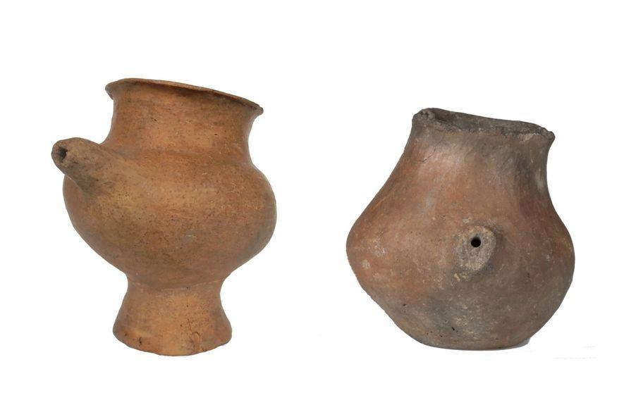 Los biberones de cerámica, entre ellos algunos con forma de animales, empezaron a aparecer en Europa ...