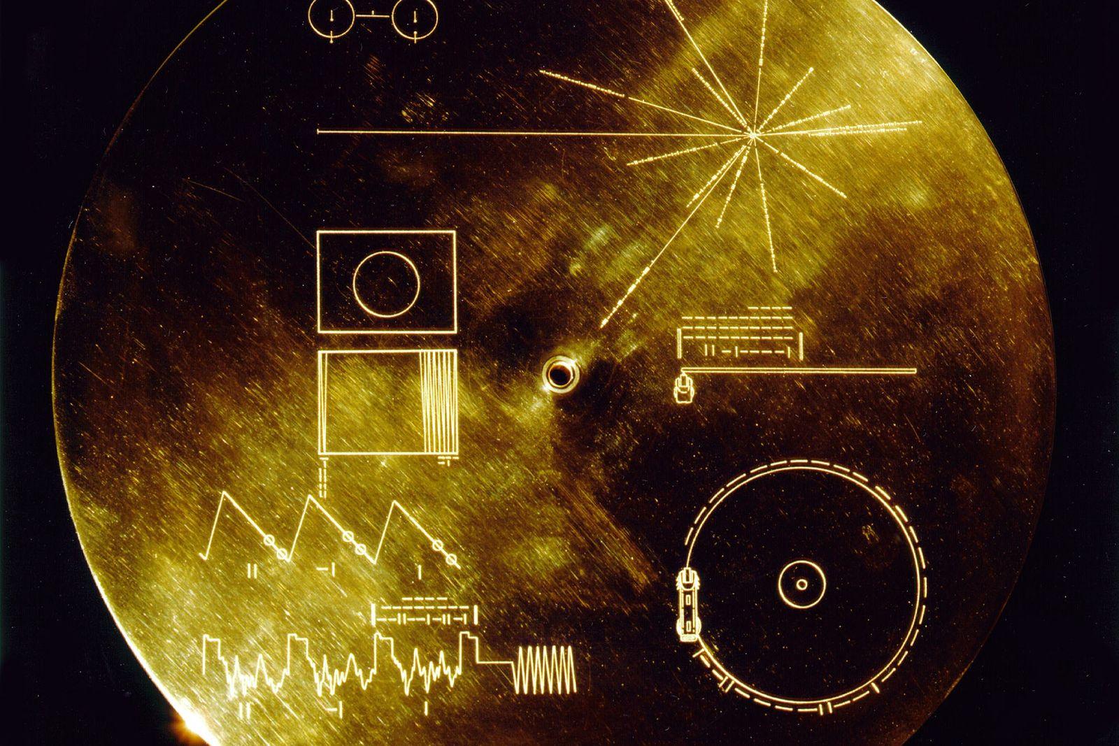 Portada del Disco de Oro de las Voyager