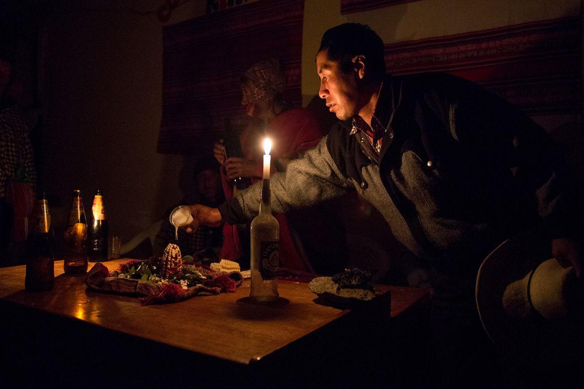 Un hombre quechua