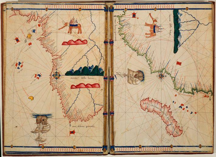 Mapa italiano del cabo de Buena Esperanza