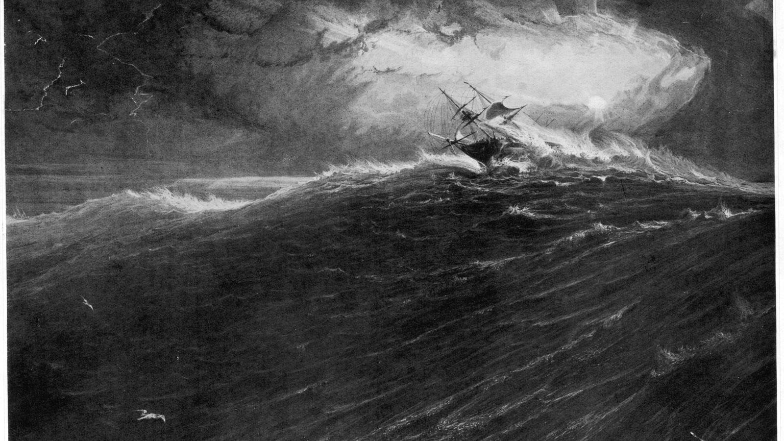 Un barco se sacude en el cabo de Buena Esperanza
