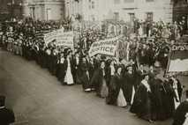Manifestación sufragista en Nueva York en 1910