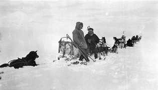 Leonhard Seppala con Roald Amundsen