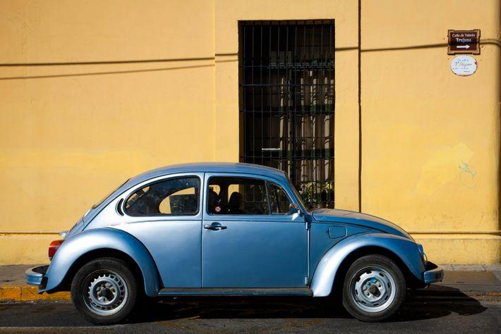Volkswagen Escarabajo azul