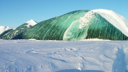 Icebergs verde esmeralda