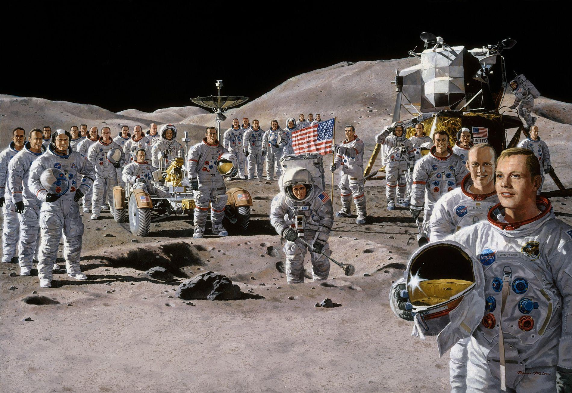 Así pensaban los científicos de la era Apolo que viviríamos en la Luna