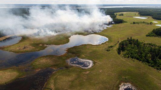 Tras una ola de calor histórica, la tundra siberiana arde