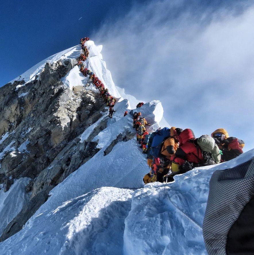 Atasco en el Everest